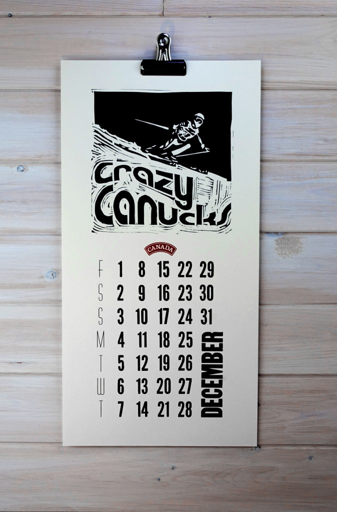 crazy canucks calendar